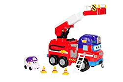 Join the Rescue Riders team and get ready to save the day When danger is near, Dizzy and her team will come to rescue Push down the side handle for lights and sounds; Zoey (included) launches out and is ready to rescue Also included another detachabl...