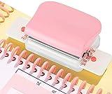 CXZA - Perforadora de papel, agujeros A4, 30 agujeros A5/20, agujeros B5/26 hasta 5 hojas de papel, se puede imprimir con punzón para perforar papel