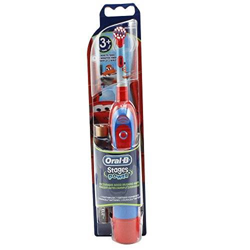 Braun Oral-B Stages Power Kids cls Batterie-Zahnbürste Kinder DB4.510.K Disney CARS + Timer