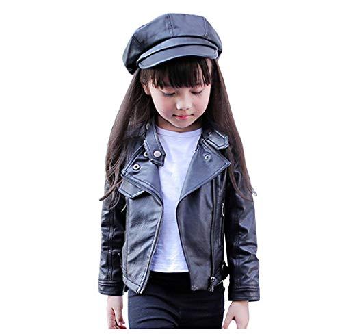 Jimmackey Giacca Ragazzini Cappotto di Cuoio Bambini Giacca Felpa Inverno Cardigan Abbigliamento Unisex Bambine E Bambino Cappotti Bambina Elegante Giacche Corta