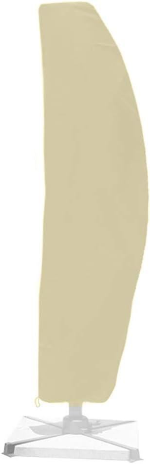 BESTINE - Funda para sombrilla con cremallera y cordón, impermeable, resistente al viento y a los rayos UV, tela Oxford para jardín, patio, banana, con bolsa de almacenamiento