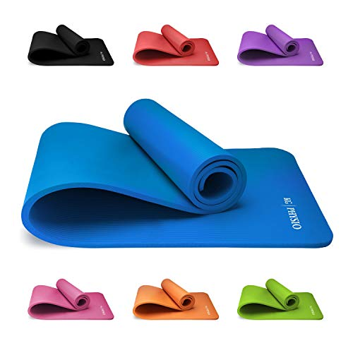 Tappetino Fitness Yoga Ginnastica Per Palestra Allenamento 180 X 60 cm Spessore 1 cm ultra morbido e resistente Materiale NBR