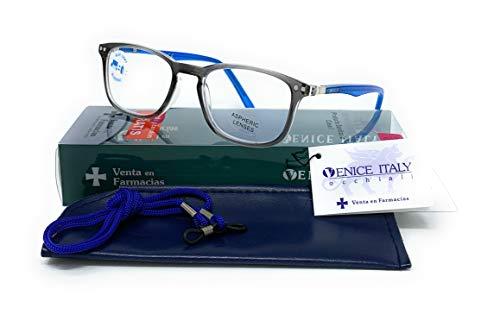 Blaulichtfilter lesebrille anti blaulicht. Computerbrille Professional Für herren damen gamer brille venice (Grau, 2.50)