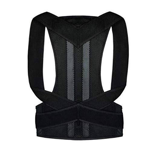 Zidao Correction Fine Posture de Garde du Corps en arrière Corset, orthopédique pour Une Posture Verticale Corset scoliose et cyphose Unisexe,Noir,S