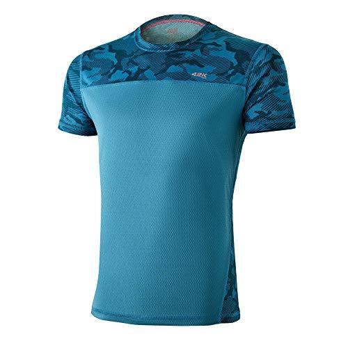 42K Running - Camiseta técnica 42K MIMET Hombre Ocean Green Camouflage M