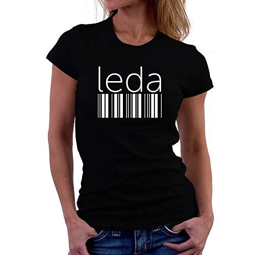 Teeburon Leda Lower Barcode Camiseta Mujer