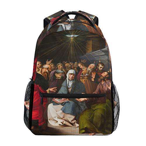 Mochila Escolar Pentecoste, de Gran Capacidad, de Lona, Estilo Casual, para Viajes, para niños, Adultos, Adolescentes, Mujeres, Hombres