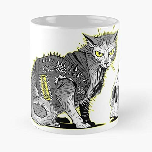 Lykoi Ist Krieg Meow Death Heavy Metal Cat Behemoth Skull Best 11 oz Kaffeebecher - Nespresso Tassen Kaffee Motive