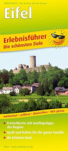 Eifel 1:170 000: Erlebnisführer mit Gutscheinen und Informationen zu Freizeiteinrichtungen auf der Kartenrückseite, wetterfest, reißfest, GPS-genau.
