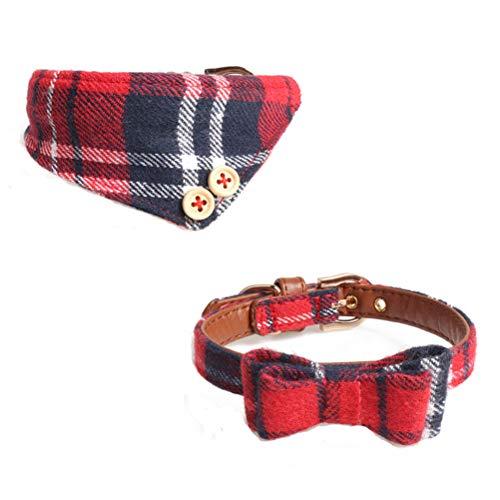 jemous kattenhalsband 2-pack verstelbare leer kunststof puppy halsband hondenhalsband kattensjaal voor katten huisdieren katten