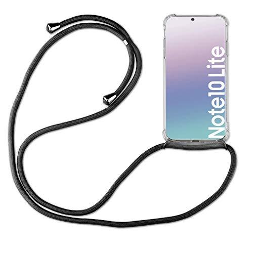 betterfon | Samsung Galaxy Note 10 Lite Handykette Smartphone Halskette Hülle mit Band - Schnur mit Hülle zum umhängen Handyhülle mit Kordel zum Umhängen für Samsung Galaxy Note 10 Lite SM-N770 Schwarz