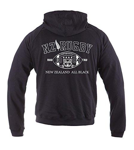 Dirty Ray Rugby New Zealand All Black Eté Demi-Saison homme sweat à capuche BL2 (L)