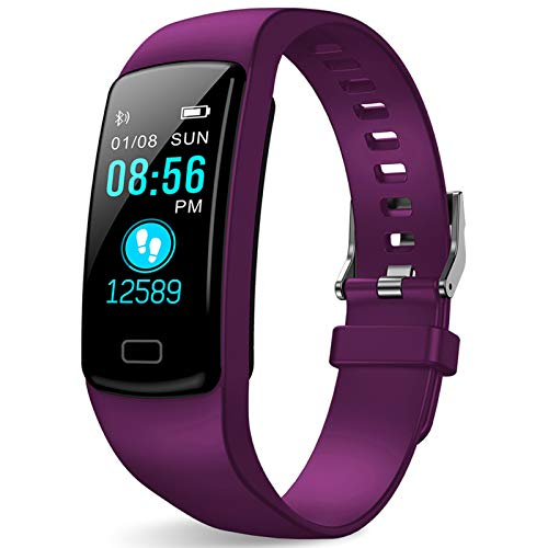 Fitness Tracker - Activity Tracker with Heart Rate Monitor - Fitness Watch Waterproof Smart Watch with Step Counter - Pedometer Watch for Kids Women and Men