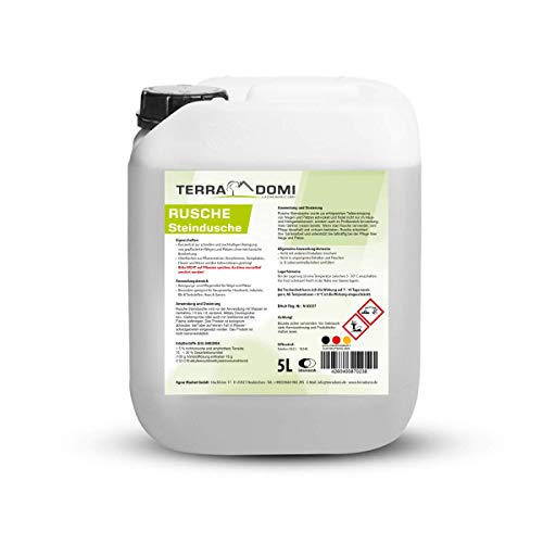 Terra Domi Rusche Steindusche, 5 L, Steinreiniger für bis zu 2000 m², Reinigungsmittel für saubere Wege & Plätze, Wegerein, biologisch abbaubar
