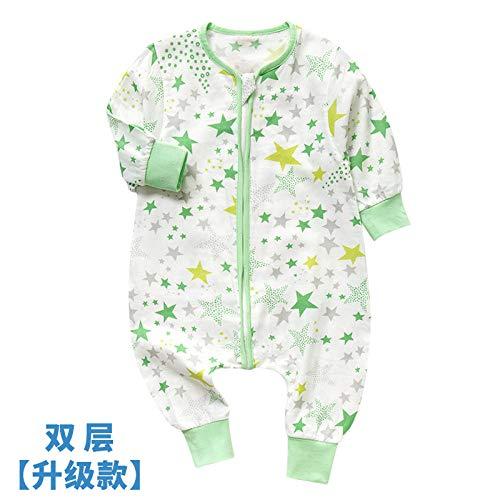 HI SBM per Saco de Dormir para Bebés de,Saco de Dormir para niños de Verano de algodón, Pierna Dividida Anti-Patada H_75-85cm,Pijamas para Bebés de 1-3 Años