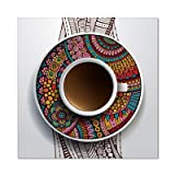 oioiu Ethnische Art Kaffeetasse Leinwand Wandgemälde