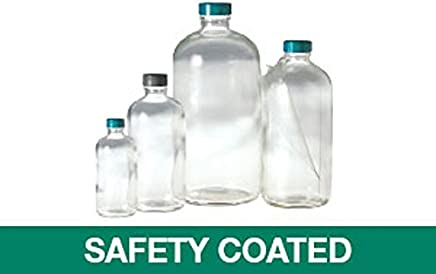 16 oz 480 mL Pack of 6 by AmexDrug Boston Round Plastic Bottle with Yorker Cap