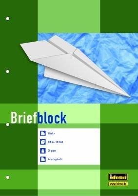 3 Briefblöcke / Schreiblock blanko DIN A4 / 4-fach gelocht (3 Blöcke, blanko)