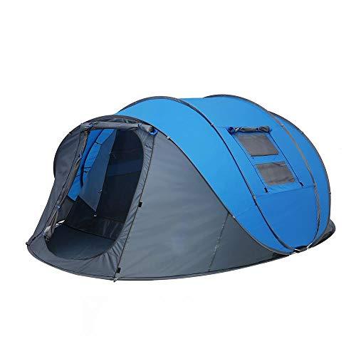 AORR Jeter la Tente Pop-up 5-6 Personnes tentes automatiques extérieures Double Couches Grande Famille Tente étanche Tente de randonnée de Camping, Double 4-6p, Bleu