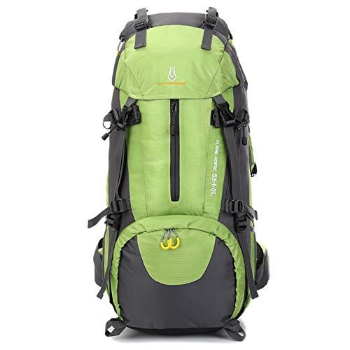 Liusujuan Hiking Daypack 40L Waterproof Internal Frame Backpack 60L Large Capacity Backpack Nylon Waterproof Travel Bag (Color : Green)