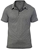 Warriors & Scholars Polo Shirts for Men - Mens Golf Dry Fit Polos Dri Fit Shirt (Small, Black Heather)