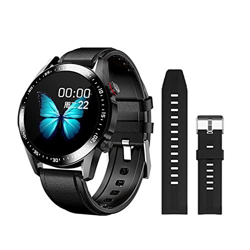 ZGLXZ Smart Watch Men's Bluetooth Llamada Personalizada Dial Pantalla Táctil Completa Impermeable Reloj Inteligente para Android iOS Sports Fitness Tracker,C