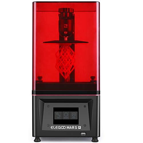 ELEGOO Mars Pro MSLA 3D Drucker UV Photocuring LCD 3D Printer mit Matrix-UV-LED-Lichtquelle, integrierter Aktivkohle, Offline-Druck Druckgröße 115 x 65 x 150 mm