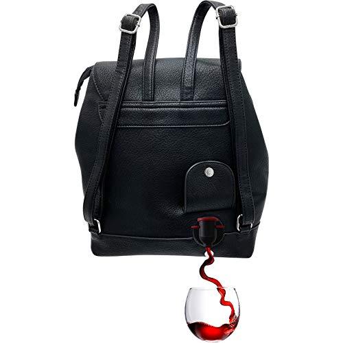 PortoVino Tokyo Rucksack – Modischer Weinrucksack mit verstecktem, isoliertem Fach für 2 Flaschen Wein