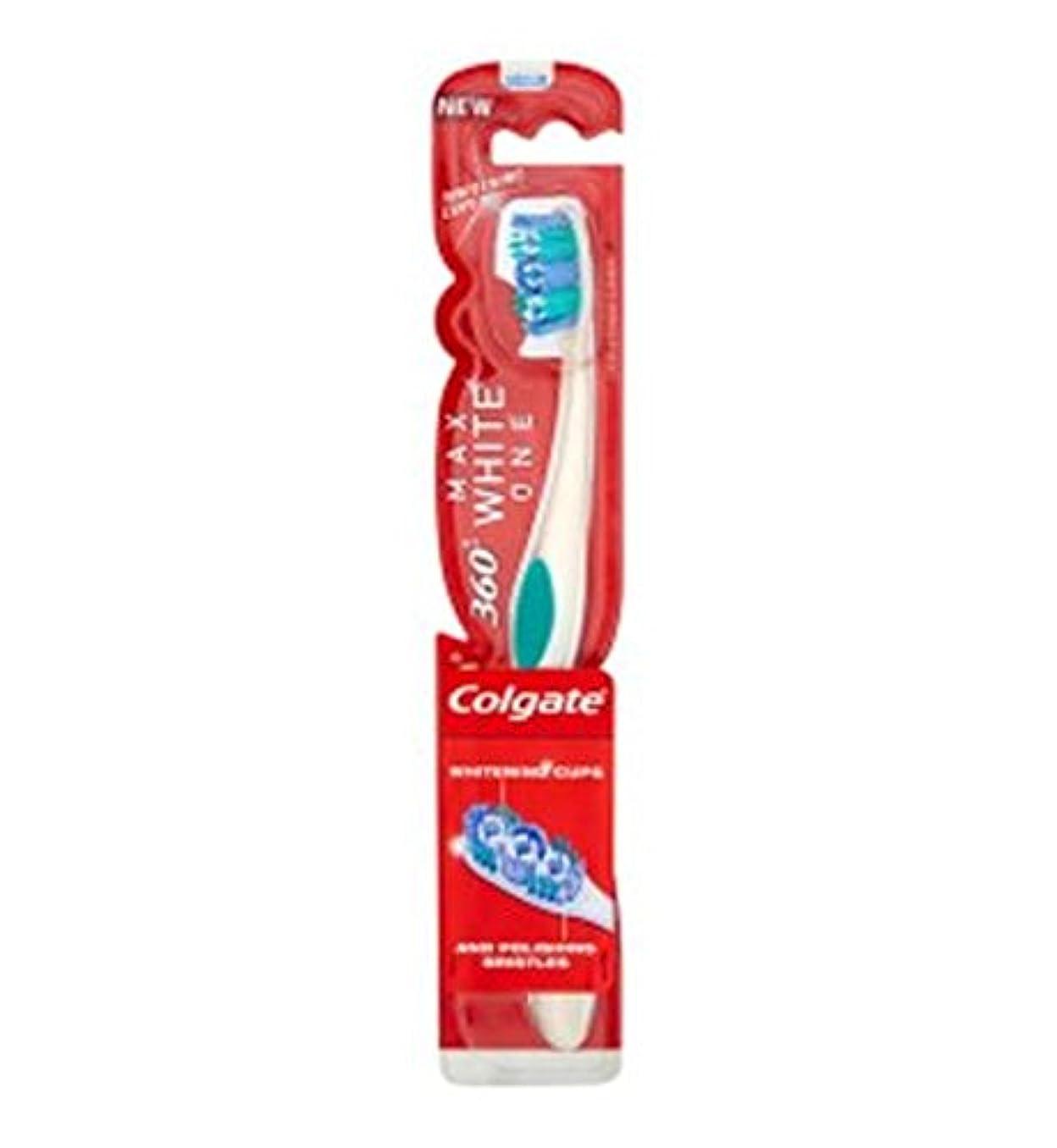 一晩忠誠達成コルゲートマックスホワイト歯ブラシ (Colgate) (x2) - Colgate Max White Toothbrush (Pack of 2) [並行輸入品]