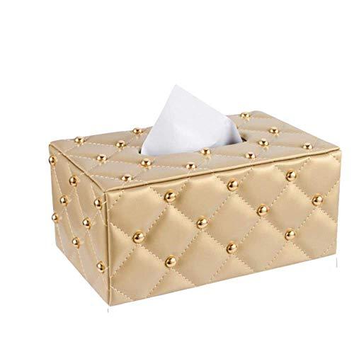 Lidylinashop Porta veline fazzoletti Porta fazzoletti di Carta Scatola di fazzoletti Copre cubo Scatola dei Tessuti Copre rettangolo Gold