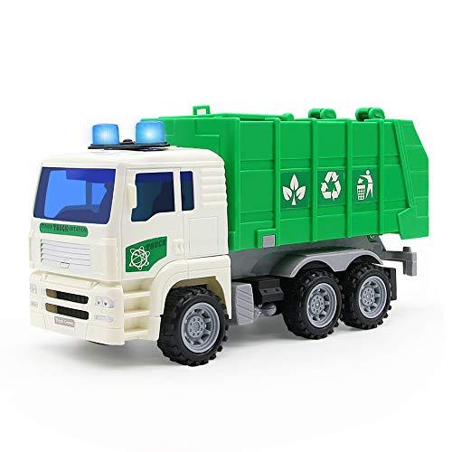 Müllauto Spielzeug Müllwagen mit Sound Auto Spielzeug LKW Fahrzeug Modellauto Geburtstagsgeschenk und Kindergeburtstag für Kinder Junge Mädchen ab 3 4 5 6 Jahren (MEHRWEG)