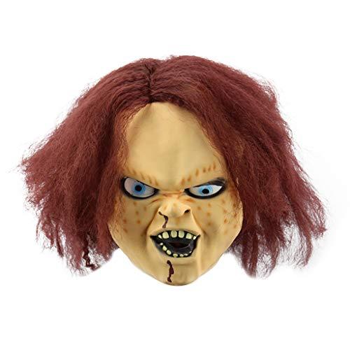 BINGBIAN Sombrero de ltex para Halloween, disfraz de fiesta de terror, fantasma