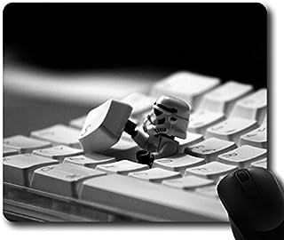 Custom Gaming Mouse Pad con Teclado Storm Trooper StarWars Película antideslizante estándar de tamaño 9pulgadas (220mm) X 7pulgadas (180mm) X 1/8pulgadas de goma de neopreno (3mm) ordenador de sobremesa Alfombrilla de ratón portátil Mousepads cómodo Alfombrilla de ratón