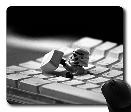 Custom Gaming Maus Pad mit Storm Trooper StarWars Tastatur Folie rutschfestem Neopren Gummi Standard Größe 22,9cm (220mm) X 17,8cm (180mm) X 1/20,3cm (3mm) Desktop Mousepad Laptop Mousepads bequem Computer Mauspad