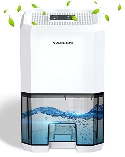 Deumidificatore Ambiente Casa, VATEEN Mini Deumidificatori 1200ml Deumidificatore D'aria Portatile e Silenzioso, 7 Colori LED, Assorbire l'acqua 350ml/24h Ideale per Bagno, Armadio