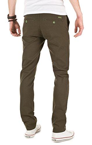 WOTEGA Men's Chino Pants Adriano slim, forest night (0414), W33/L34