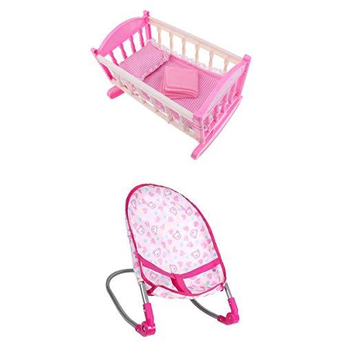 Harilla Niños Fun Play Pretend Furniture - ABS Baby Bouncer Mecedora Cuna Cama