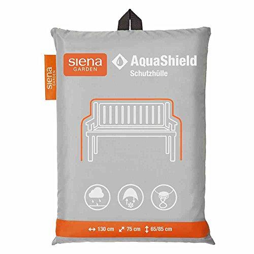 Siena Garden AquaShield Bankschutzhülle, 2-er Set, silber-grau, mit Active Air System, 130x75x65cm
