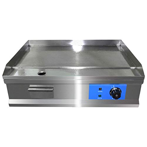 AiQueen 1600W 25.5' Commercial Electric Countertop Griddle Flat Top Grill Hot Plate BBQ,Adjustable Thermostatic Control,Stainless Steel Restaurant Grill for Kitchen