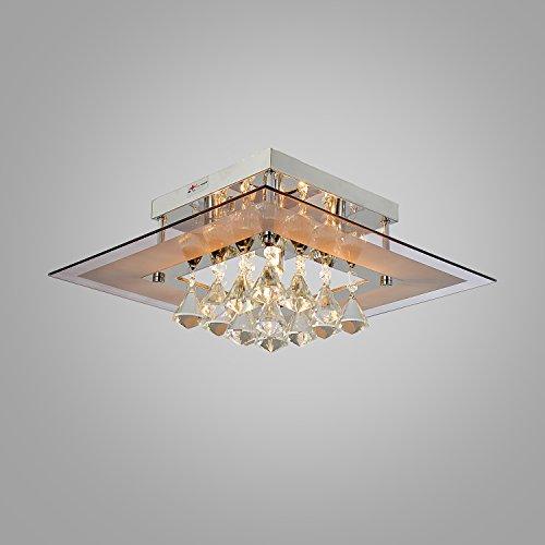 OOFAY LUCE Comtemporary goccia di cristallo a filo Lights montaggio con 5 luci in piazza design, Casa Moderna soffitto Light Fixture incasso