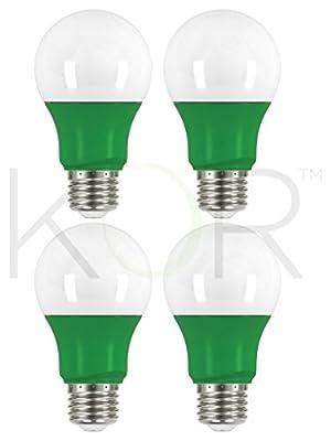 (Pack of 4) LED A19 Shape Colored Light Bulb-2W-Multi-Directional - 120V-Energy Saving - Medium Base E26 - UL-Listed-Non-Dimmable Lamp