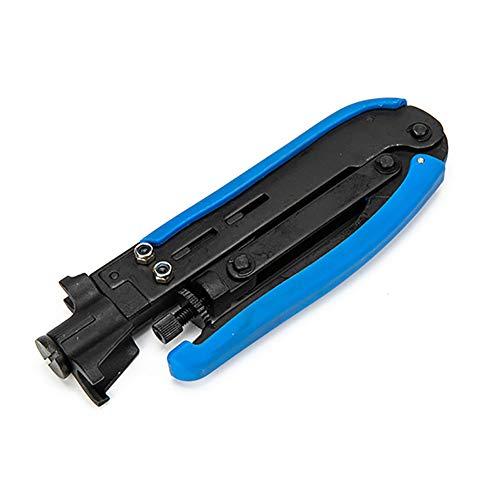 Betos Juego de herramientas de crimpado para pelar cables multifunción con conectores de compresión F para cable coaxial Crimper Crimper Crimping Tool Set