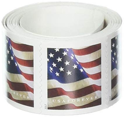 US Flag Postage, Roll of Postage Stamps