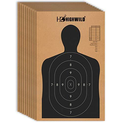 Highwild 18' X 30' Cardboard Targets for Shooting, Torso Paper Targets - ISPC/USPSA/IDPA (Pack of 25)