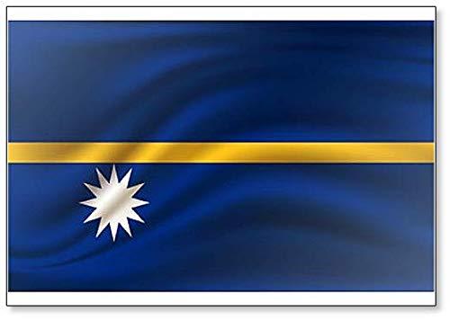 Kühlschrankmagnet, Motiv Flagge von Nauru, realistisch