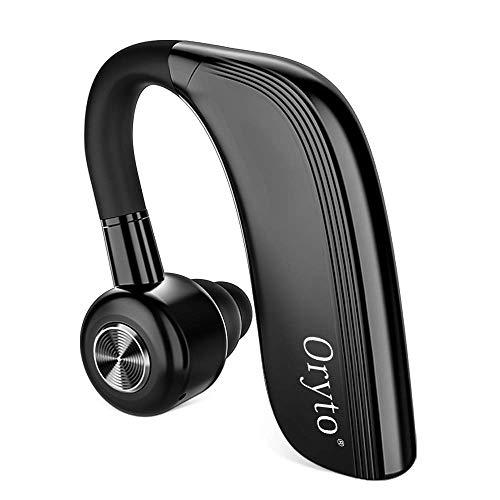 Auricular inalámbrico bluetooth,Auriculares Bluetooth Manos Libres soporte para 25 horas de tiempo de conversación auricular con mic HD incorporado,reducción de ruido en el oído:llamadas de negocios