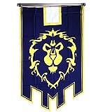 MAster World of Warcraft Alliance - Bandera para aficionados al juego o cosplay (37,4 x 25,6 cm), color azul