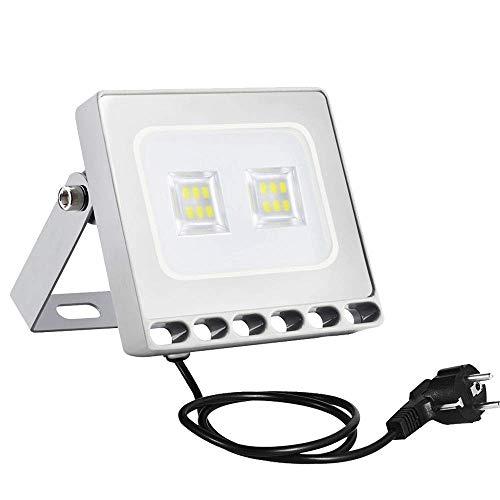 LED Strahler Sararoom 10W LED Beleuchtung 800LM Lampe LED Scheinwerfer 5000K-6500K Kaltweiß IP67 Wasserdicht LED Strahler Außen für Hof Garten, Garage, Werbetafeln, Stadien, Plätze, Fabriken