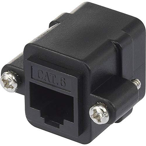Renkforce RJ45 Netzwerk Adapter CAT 6 [1x RJ45-Buchse - 1x RJ45-Buchse] Schwarz