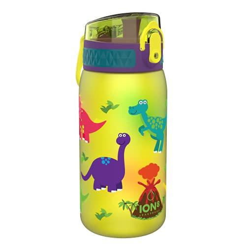 Ion8 Niños Botella Agua, Sin Fugas, Dinosaurios, 400ml